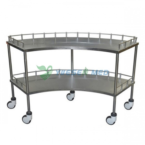 304 stainless pet operating instrument trolley YSVET5106