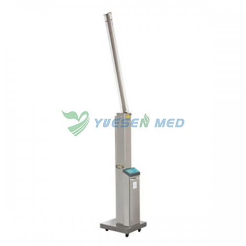 30W Mobile stainless steel double tube ultraviolet sterilization lamp with infrared sensor FY-30DSI