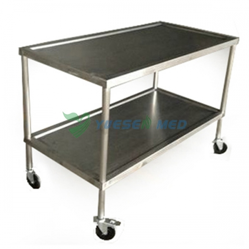 stainless steel veterinary surgical instrument trolley YSVET5105