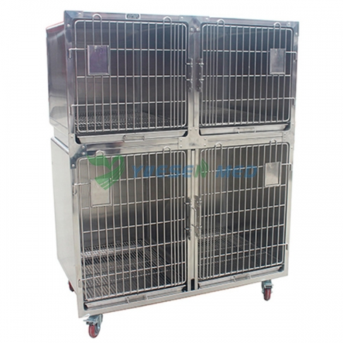 High quality stainless steel pet boarding cage YSVET1220