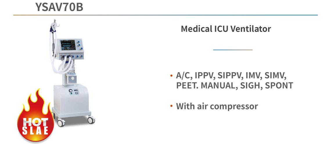 YSAV70B Medical ICU Ventilator