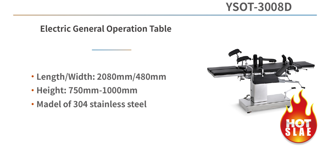 YSOT-3008D Manual General Operation Table