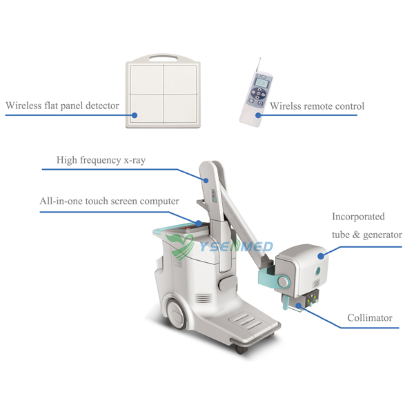 16KW Mobile Digital Radiography X-ray  System YSDR16