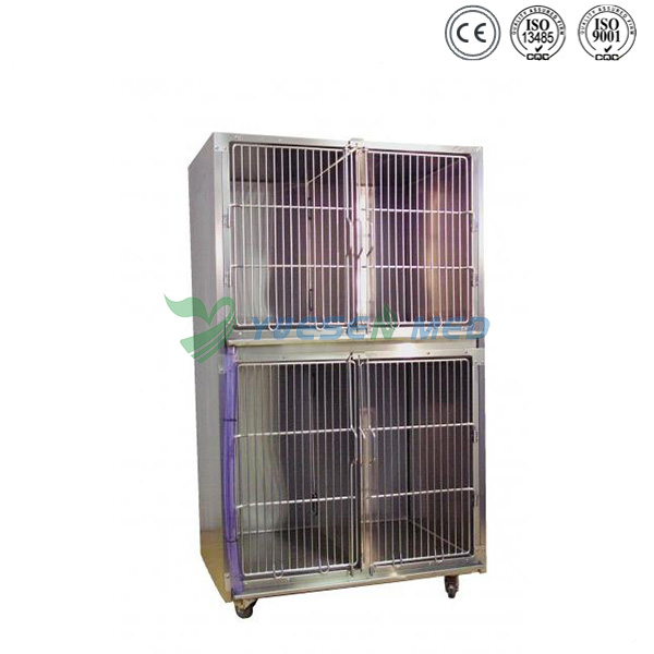 veterinary hot sale stainless animal cage YSXVET8103
