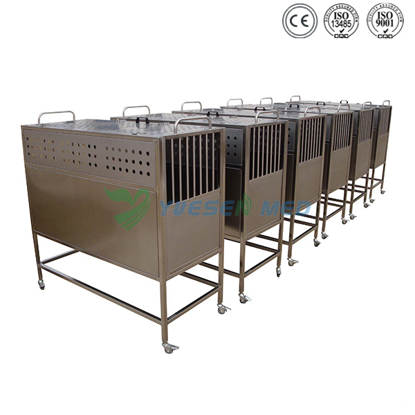 mobile best price stainless dog transfer cage YSVET8105