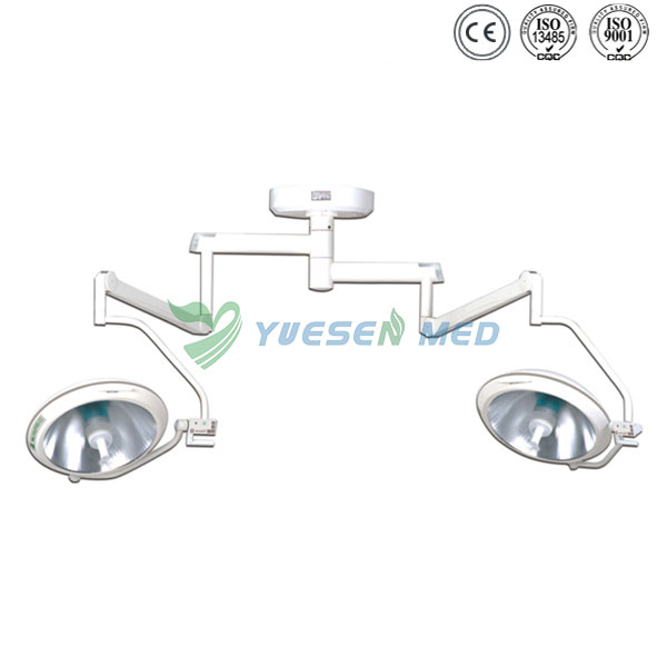 Double headed halogen surgical operation lamp