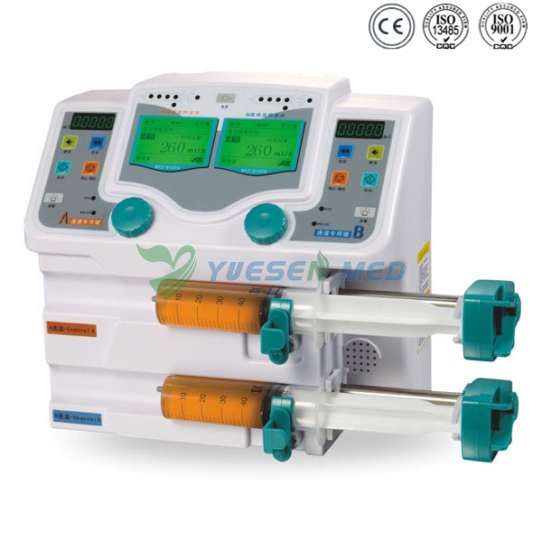 YSZS-810TU Double Channel Syringe pump with drug library