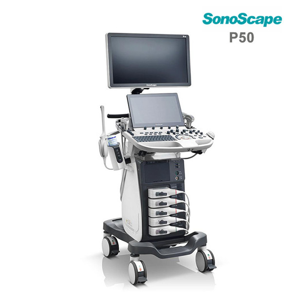 Color doppler trolley 4d ultrasound SonoScape P50