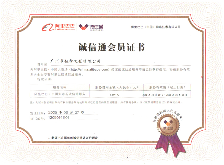 12 Years Trust Supplier of Alibaba