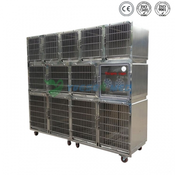 High quality stainless pet combination cage YSVET0510