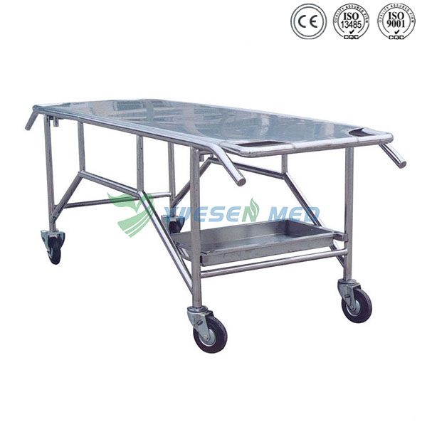 Quality Stainless Steel Morgue Transport Stretcher YSTSC-07