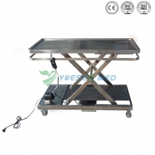 Electric stainless steel veterinary operation table