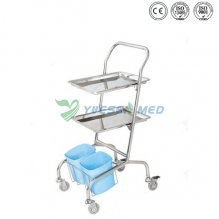 hot sale stainless steel veterinary instrument cart YSVET865101