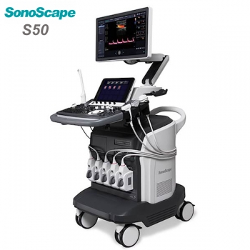 Color doppler trolley 4d ultrasound SonoScape S50