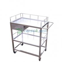 304 stainless vet operation instrument trolley YSVET5107